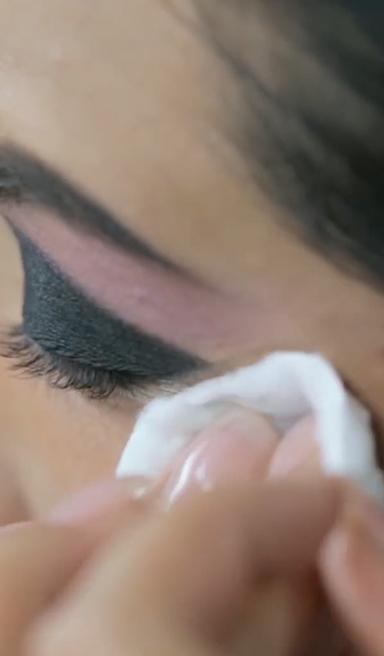 Efecto cortado para smokey eyes