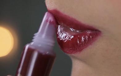 Labios rojos efecto vinilo